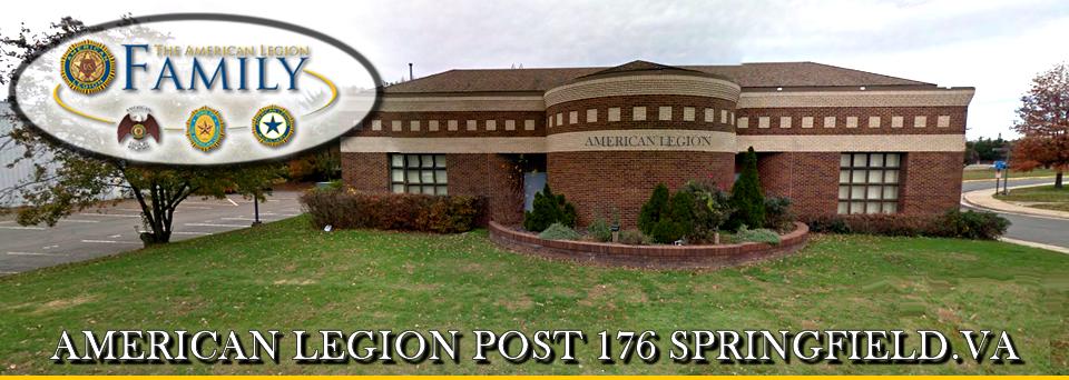 American Legion Post 176 Springfield, 6520 Amherst Ave Springfield, VA 22150, (703) 440-0336, vapost176@vap.vacoxmail.com
